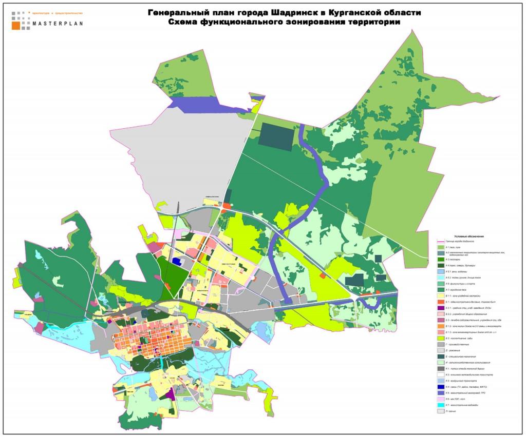 Схема функицонального зонирования территории